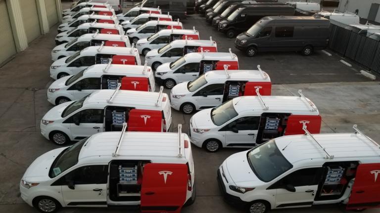 Tesla Fleet Vans