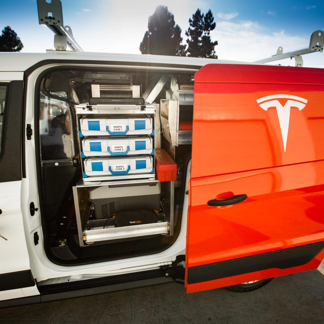 18f21f00d7 Tesla Service Vans Ranger Shelving Van Tesla Service Van Custom Work ...